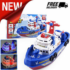 New ListingToys for Kids Boat Truck with Music Light Electric Marine Rescue Toy Xmas Gifts