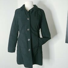 Talbots black quilted jacket coat lined Small super soft lining