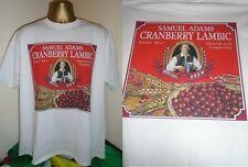 BOSTON BEER COMPANY- SAMUEL ADAMS CRANBERRY LAMBIC BEER  PRINT T SHIRT-WHITE XL