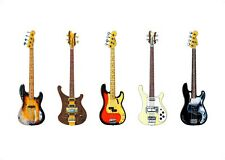 Famous Bass Guitars poster stampa formato A1