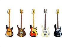 Famous Bass Guitars POSTER PRINT A1 size