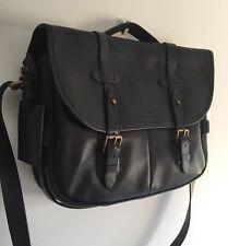 POLO RALPH LAUREN noir en cuir messenger sac rrp £ 435