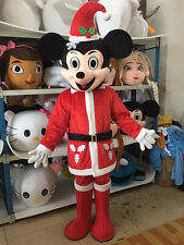 Christmas Mickey Mouse Mascot Costume Birthday party game Adult Size Fancy dress