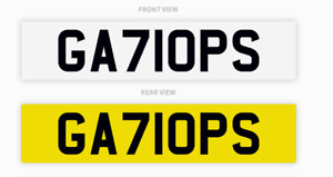 GALLOPS GA71OPS Horse Racing Equestrian Number Plate