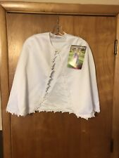 Storybook Heirlooms Children's White Shawl Med 7-8 Nwt