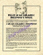 Rules In An Icelandic Sheepdog's House