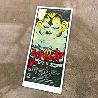 Gorillaz LIVE 2002 - Screen Printed Handbill - Jason Goad / Jeff Wood (DCS)
