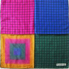 -Superbe Foulard  PIERRE CARDIN Paris  100% soie  TBEG  vintage scarf