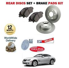 FOR CHRYSLER CROSSFIRE 3.2i 9/2003-12/2007 NEW REAR BRAKE DISCS + DISC PADS SET