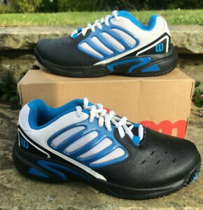 Wilson - Jr Tour Vision - Tennis Shoes UK 2 - New with Box! Black/White/Blue