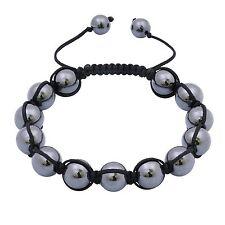 Men's Hematite Shamballa Bracelet High Quality