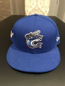Columbus Catfish New Era 5950 Fitted Hat Cap Size 7 3/4 NWT Made In USA MiLB