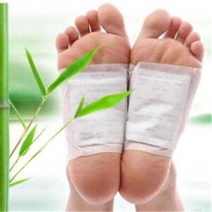 Detox Foot Pads Patch Organic Bamboo Vinegar Herbal Cleansing 10 to 50 PCS