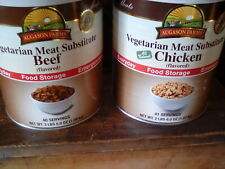 Augason Farms Chicken & beef flavored Vegetarian Meat Subtiute Food one can each