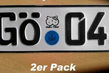 2x Hello Titty Kennzeichen Aufkleber Fun Kitty Sticker Pink Shocker 34x31mm