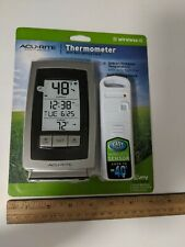AcuRite Digital Thermometer Indoor / Outdoor Temperature w/ clock 00754W5 New