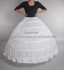 Largo enaguas inflable blanco 6 anillos acero Nupcial Vestido De Novia Enaguas