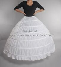 6 Cerceau Noir robe de bal de mariage nuptiale Crinoline Petticoat Cerceaux