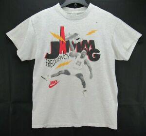 Vintage 90s NIKE MICHAEL JORDAN FREQUENCY JAMMING T Shirt Size Large