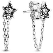 AUTHENTIC-GENUINE PANDORA Celestial Star Stud Earrings 298604C01