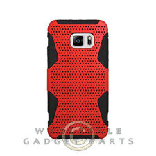 Samsung Galaxy S6 Edge Plus Hybrid Mesh Case - Red Protector Guard Shield