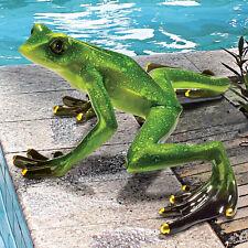 Garden Frog Toad Statue Figurine Pond Pool Decor Lawn Art Ornament Sculpture