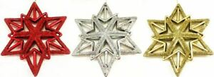 Assorted Colour Christmas Tree Hanging Star Decoration Festive Ornament Glitter