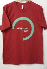 eBay 2017 Logo T-shirt eBay Open Las Vegas Orange Size L Unisex Limited Ed.