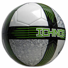 NUOVO CON SCATOLA ichnos Koru Bianco Lime Nero Calcio Partita di Calcio Palla Ufficiale Taglia 5