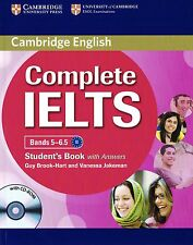 Cambridge English COMPLETE IELTS Bands 5-6.5 STUDENT'S BOOK with Answers CD USED