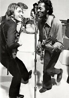 John Lennon and Chuck Berry BW Poster