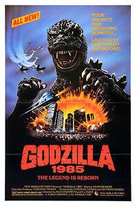 GODZILLA 1985 Movie POSTER Gojira