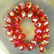 3*4mm Red AB Crystal Faceted Abacus Loose Bead 600pcs DIY jewelry