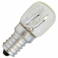 Pygmy Clear Oven Light Bulb 240V E14 SES 25W Long Life Lamp 1000 Hours 300C