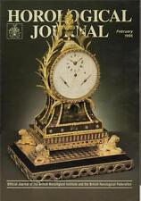Horological Journal 137/2 Sundial & Errors. Watch Cleaning Machine History   z21