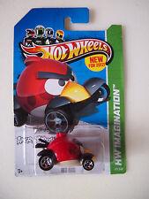 2012 Hot Wheels HW IMAGINATION Angry Bird RED BIRD on 2013 card VHTF