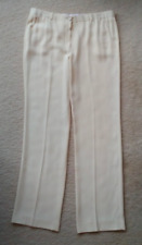 THE ROW cream creme ivory off-white silk flow-y trousers pants minimalist modern