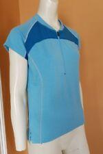Women's NOVARA Cycling Bike Jersey Shirt Top Short Sleeve SZ M Blue EUC