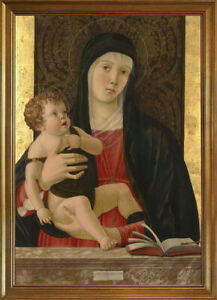 Classic Framed Giovanni Bellini The Madonna and Child Giclee Canvas Print