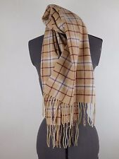 Enzo Mantovani  plaid 100% Cashmere Scarf  with fringe