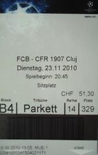 TICKET UEFA CL 2010/11 FC Basel - CFR 1907 Cluj