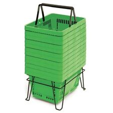 22 Liter Grocery Hand Baskets Green Set of 12, 47862
