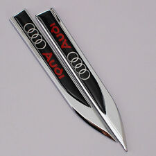 Car Emblem Badge Fender Knife Type Tailgate Side sticker logo for Audi A4 A6 TT