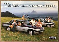 1986 Ford Falcon GL 'Family Edition' original Australian sales leaflet/brochure