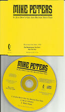 The Alarm MIKE PETERS It Just Don't Get 3 UNRELEASED PROMO CD single USA Seller