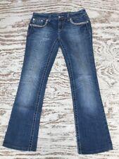 "Miss Me Embellished Rhinestone Stud Flap Jeans 28x29"" JW6192B Jeweled Bling"