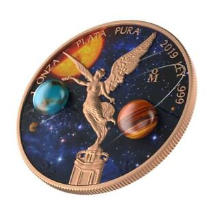 Mexico 2019 1 Onza Libertad Astronomy 1 Oz Silver Coin