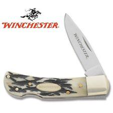 Winchester Bone Handle Medium Lock Back Knife 22-01796