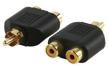 Phono RCA Adapter 2 into 1 Phono Connector - Gold Plated