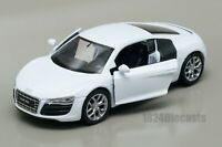 Audi R8 V10 white, Welly scale 1:34-39, model toy car gift